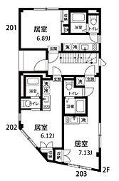 オープンゲート武蔵関[3階]の間取り