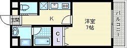 光川テラス[2階]の間取り