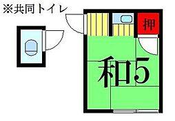 福田荘[5号室]の間取り