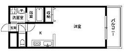 大阪府大阪市平野区長吉出戸7丁目の賃貸アパートの間取り