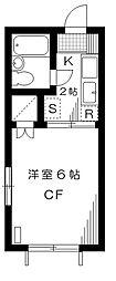 コーポK[2階]の間取り