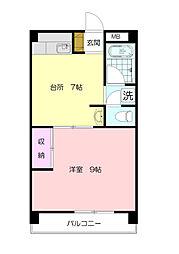 第3キングビル[2階]の間取り