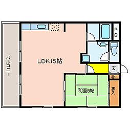 LaLuce光南II(ラルーチェ光南II)[4階]の間取り