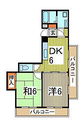第五メゾン小泉芝新町[7階]の間取り