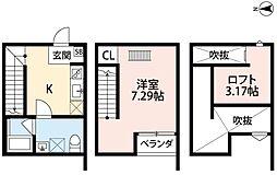 グリーンヒル花園 玉串町東3 東花園13分[1階]の間取り