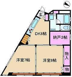 第2大扇ビル[301号室]の間取り