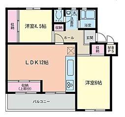 神奈川県相模原市南区相模台団地の賃貸マンションの間取り
