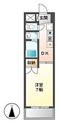 FULLHOUSEYAGOTO[5階]の間取り