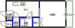 シャンクレール小桜[203号室号室]の間取り