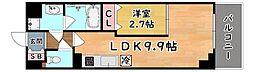 阪神本線 西灘駅 徒歩2分の賃貸マンション 3階1LDKの間取り