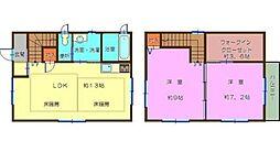 [一戸建] 神奈川県横浜市西区伊勢町3丁目 の賃貸【/】の間取り