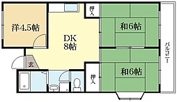 ラフォーレKEGO[3階]の間取り