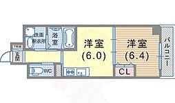 JR東海道・山陽本線 須磨海浜公園駅 徒歩9分の賃貸マンション 3階1DKの間取り