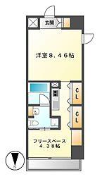NS ZEAL泉[10階]の間取り