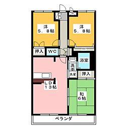 サニーヒル神ノ倉II[3階]の間取り