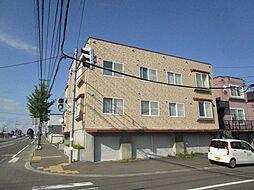 北海道札幌市東区東苗穂十五条3丁目の賃貸アパートの外観