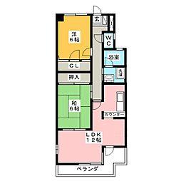 バウムコートA[4階]の間取り