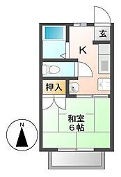 フォーブル木村[1階]の間取り