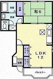 ブルースカイI[1階]の間取り