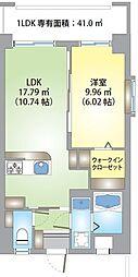 バス 松本下車 徒歩8分の賃貸マンション 8階1LDKの間取り
