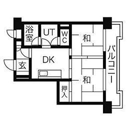 ダイアパレス大手門[10階]の間取り