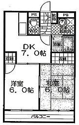 サンライズ久喜1[2階]の間取り