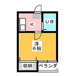 タイディーハウス[1階]の間取り