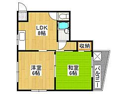 ファースト田島[3階]の間取り