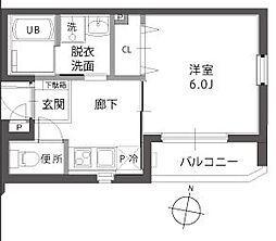 ラフィーネ扇[3階]の間取り