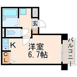 シャトル上野[3階]の間取り