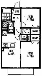 SUN HOUSE[101号室]の間取り