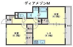 ディアメゾンM[1階]の間取り