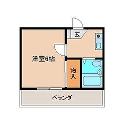 奈良県大和高田市甘田町の賃貸アパートの間取り