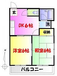 東京都中野区中野3丁目の賃貸マンションの間取り