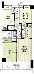 神奈川県横浜市磯子区坂下町の賃貸マンションの間取り