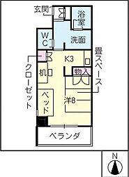 鶴舞ガーデンコート[8階]の間取り