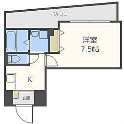インペリアル新町[11階]の間取り