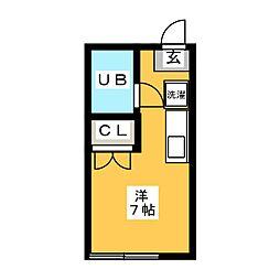 ルックハイツ[1階]の間取り