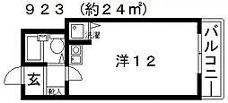 第2アモルフ[301号室号室]の間取り