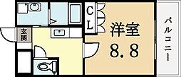 エクセル城陽[1階]の間取り