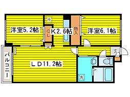 北海道札幌市東区北十八条東7丁目の賃貸マンションの間取り
