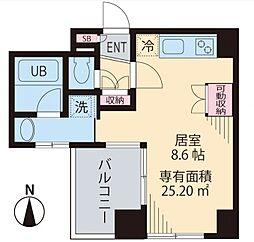 ビイルーム高円寺[7階]の間取り