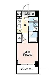 スプランディッド大阪WEST[504号室]の間取り