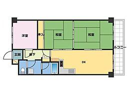 ライオンズマンション生田川東[9階]の間取り