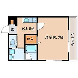 静岡県静岡市葵区鷹匠3丁目の賃貸マンションの間取り
