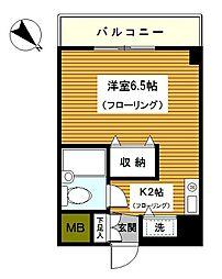 神奈川県横浜市西区浅間台の賃貸マンションの間取り