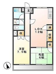浅野ビル[6階]の間取り