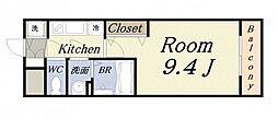 アドバンス大阪ベイパレス[4階]の間取り