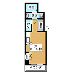 クレーデル四条[5階]の間取り