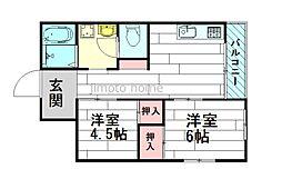 上新田アパートメント[2階]の間取り